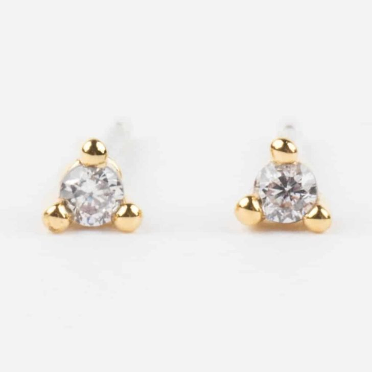 local eclectic cz studs | Delicate Jewelry | Dainty Wedding Jewelry | Simple Wedding Accessories