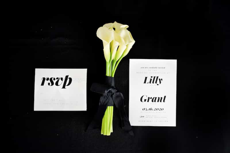 calla lily bouquet-modern sleek wedding inspiration blooms by the box