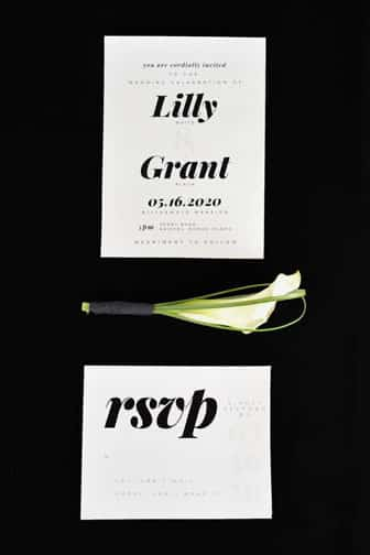 sleek modern wedding invitations free printables