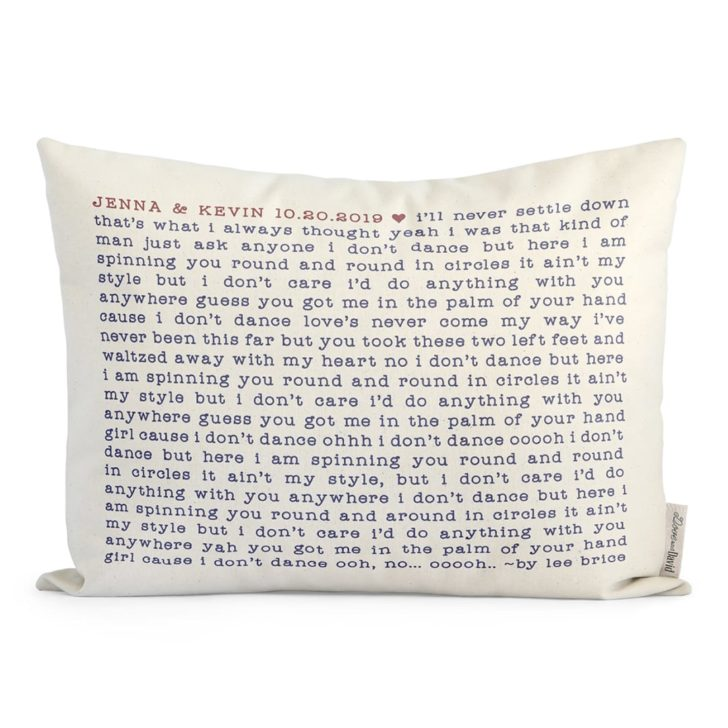 dove and david custom cotton canvas pillow | Cotton Anniversary Gift