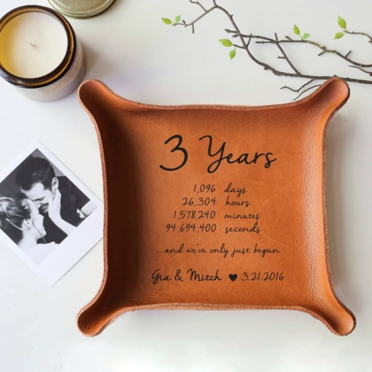 LEATHER TRAY by Paper Anniversary Love