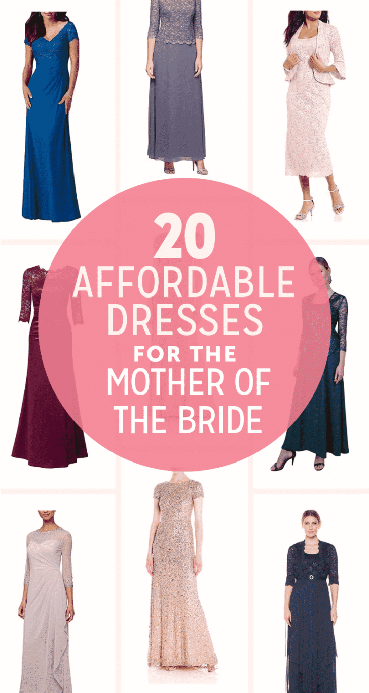 affordable dresses for the mother of the bride