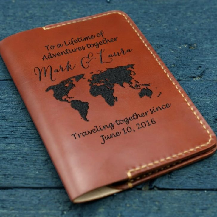 LEATHER PASSPORT COVER OR WALLET 