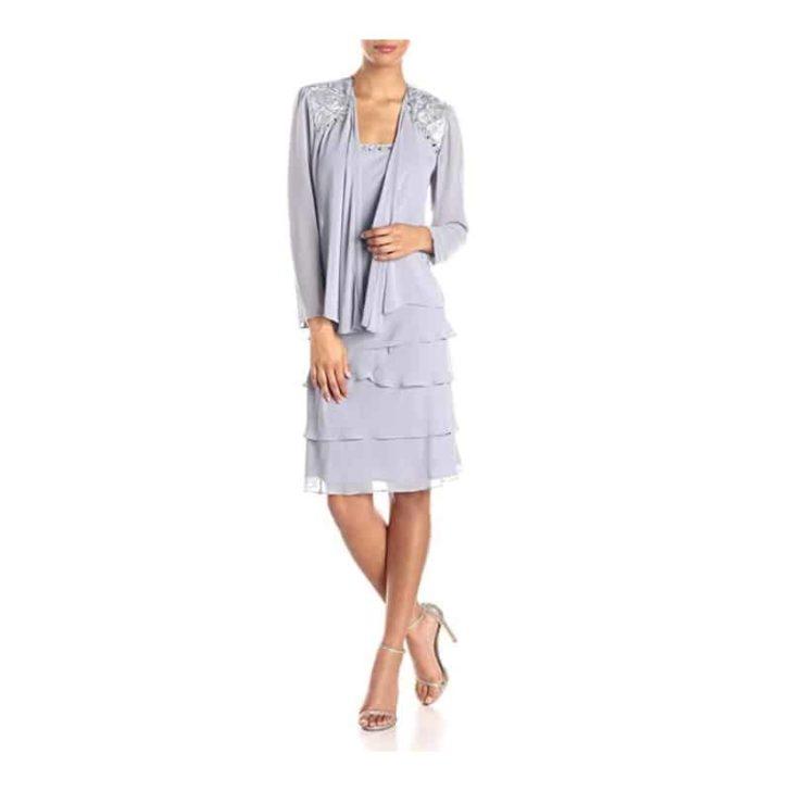 Embellished-Tiered-Jacket-Dress