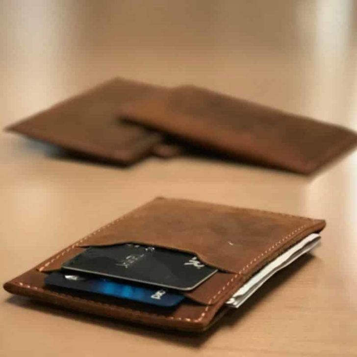 MINIMALIST LEATHER WALLET by Texas Valley Leather