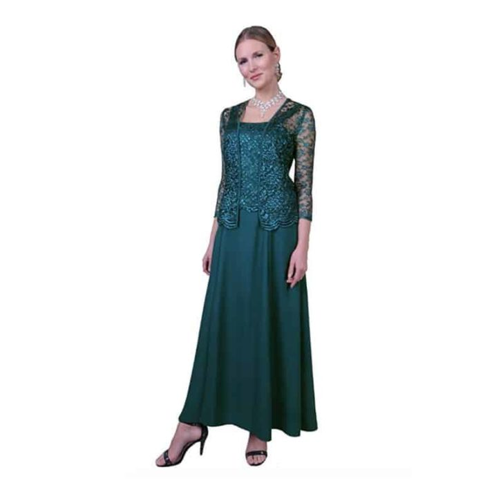 Long Formal Lace Dress with Jacket by Love My Seamless