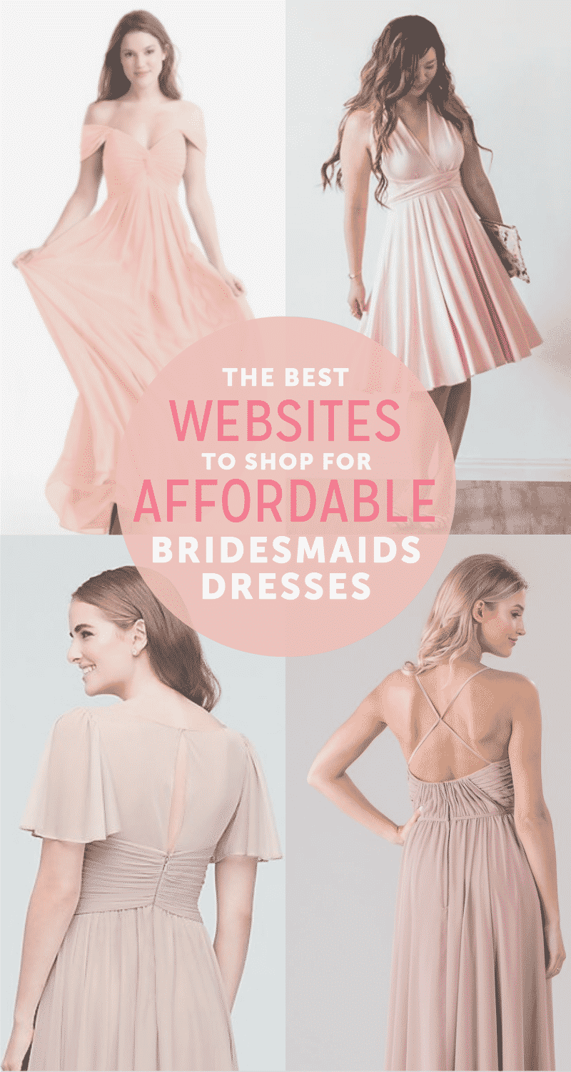 Check out out favorite websites for  cheap bridesmaid dresses!