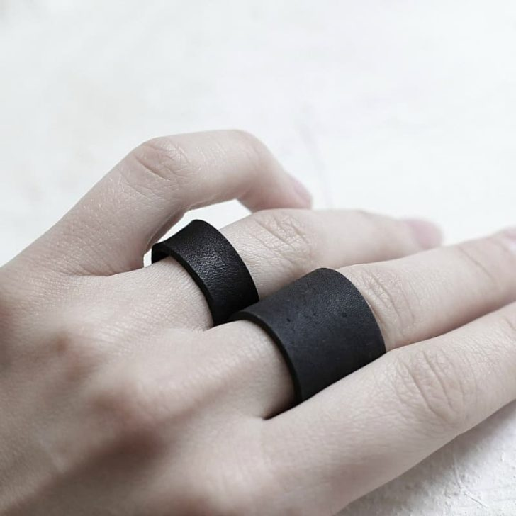 UNISEX LEATHER RING By Maki Concept