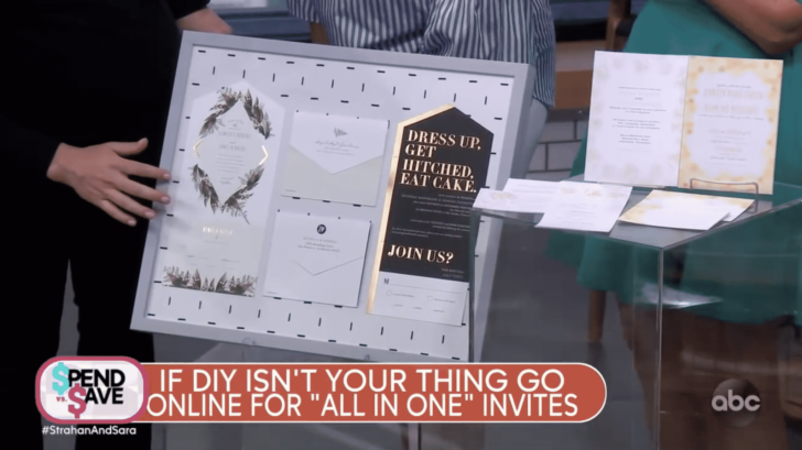strahan and sara - gma - save money on a wedding - invitations