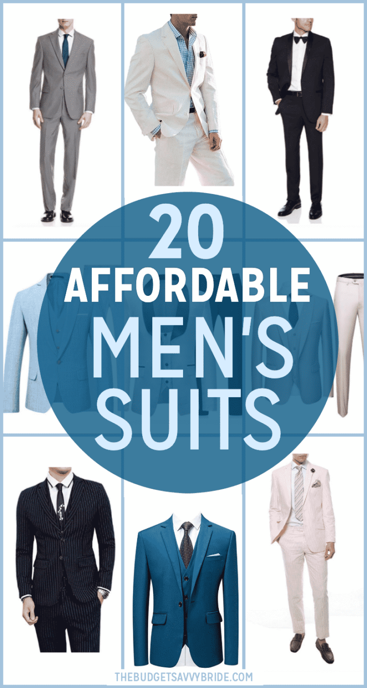 Affordable Men's Suits from Amazon for the groom and groomsmen