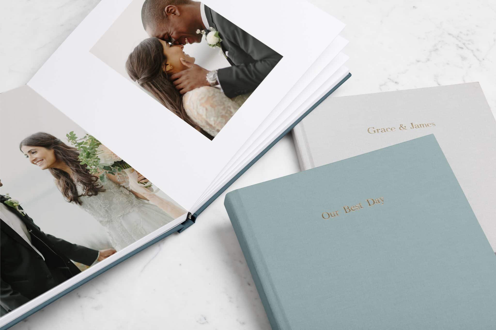 Gorgeous Lay Flat Wedding Albums From Artifact Uprising