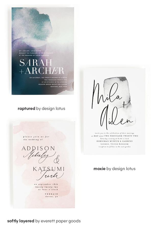 Minted Wedding Invitations - Wedding Design Trends - Smoky