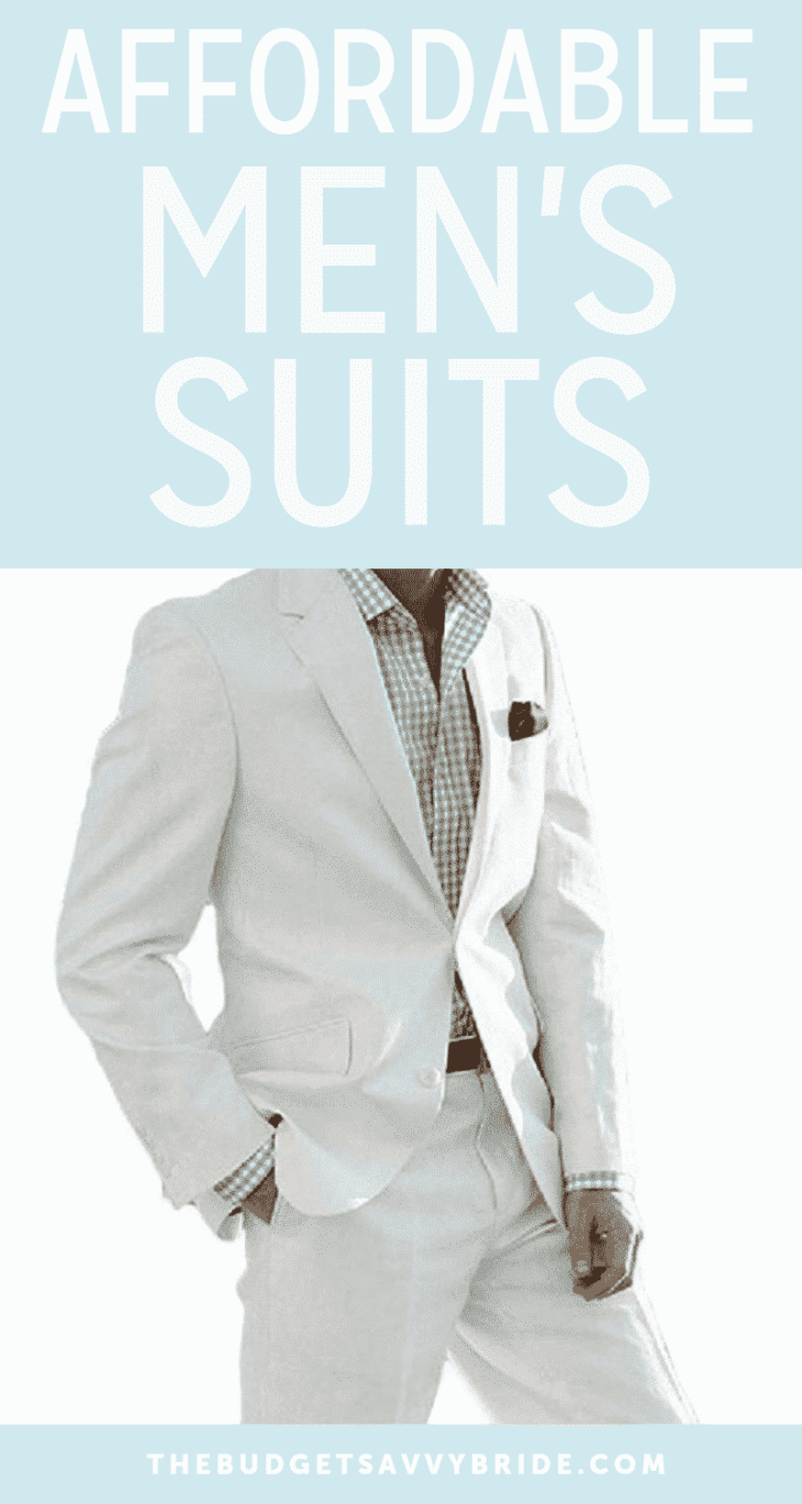 Affordable Men's Suits for Weddings