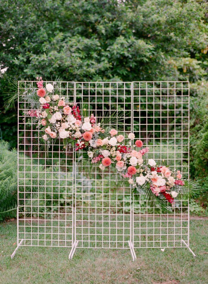 DIY Flower Grid Backdrop Tutorial - DIY Wedding Flowers from Bloom Culture Flowers