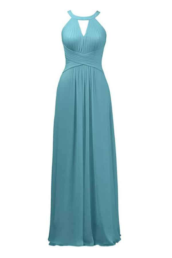 Keyhole Long Bridesmaid Dress By Alicepub