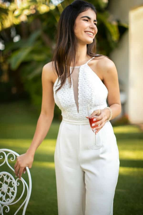 LACE HALTER JUMPSUIT By StudioSharonGuy