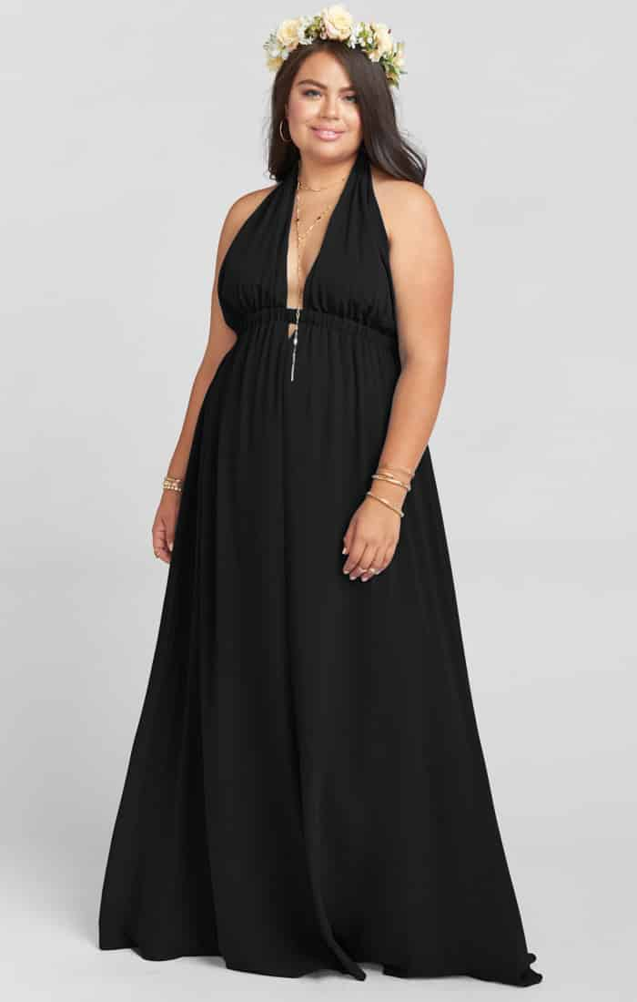 Luna Halter Dress ~ Black Chiffon | Show Me Your MuMu