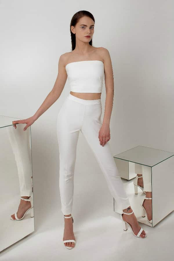 MINIMALIST CROP TOP PANTSUIT By BeTwins