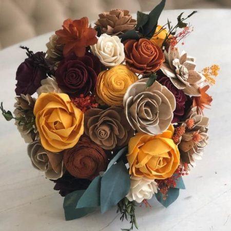 Fall Themed Sola Flower Bouquet