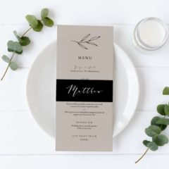 Rustic Wedding Menu Template