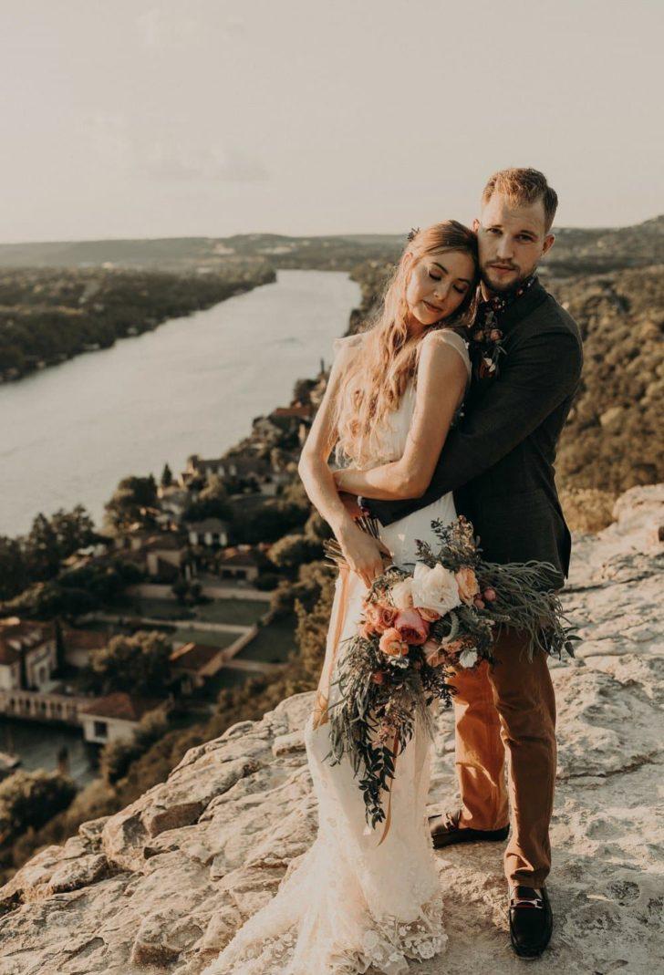 cliffside wedding