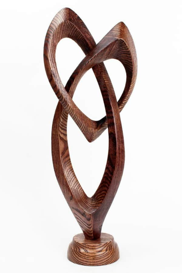 5th Wedding Anniversary Gift Idea - WOODEN ABSTRACT HEART SCULPTURE