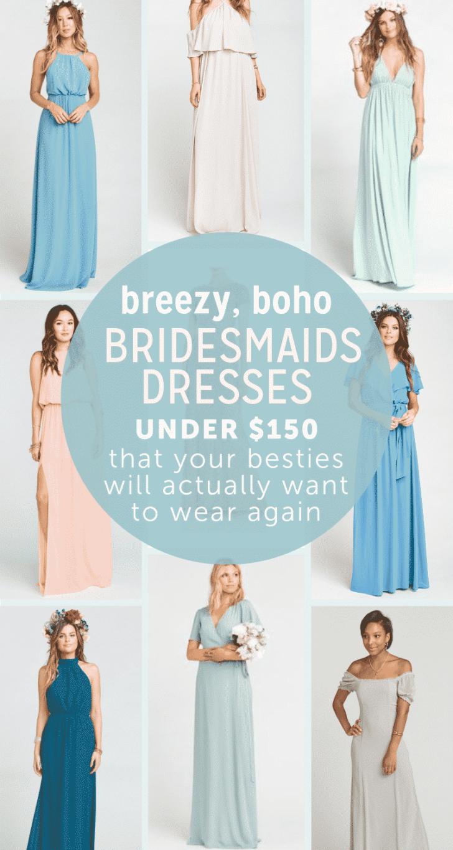 affordable dresses boho bridesmaids dresses