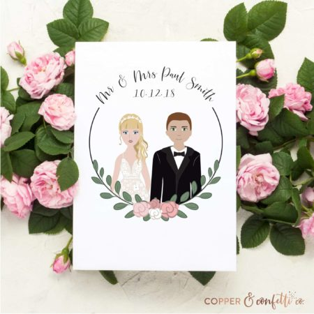 Custom Portrait Wedding Illustration