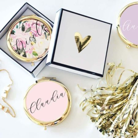 Lucky Maiden Personalized Compact Mirror