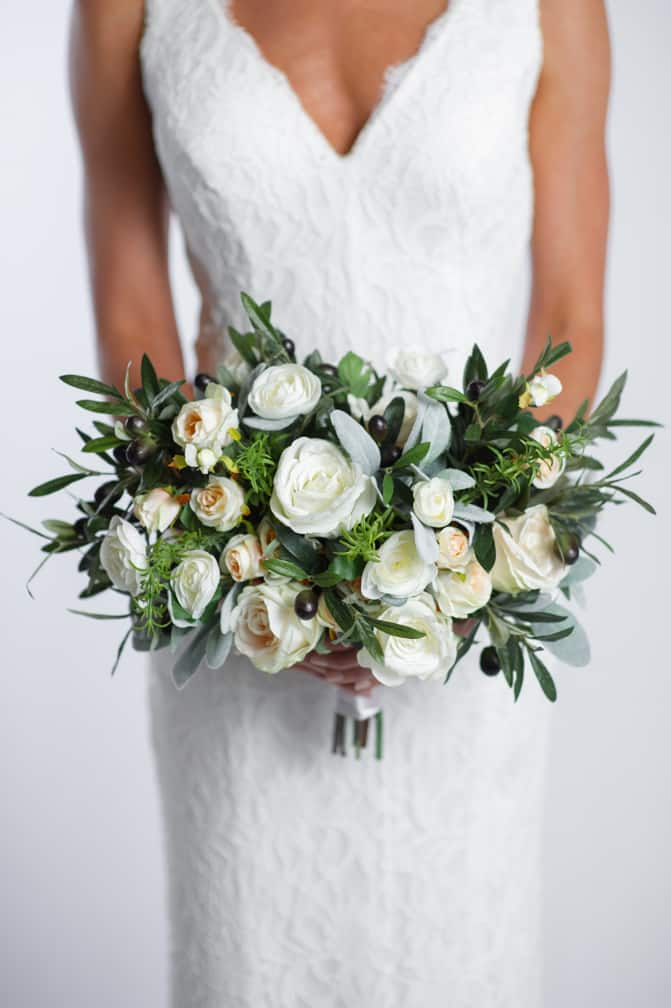 olivia bridal bouquet - something borrowed blooms