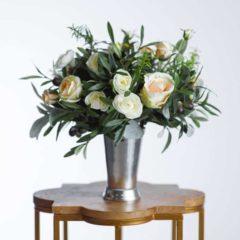 olivia silk flower centerpiece - something borrowed blooms