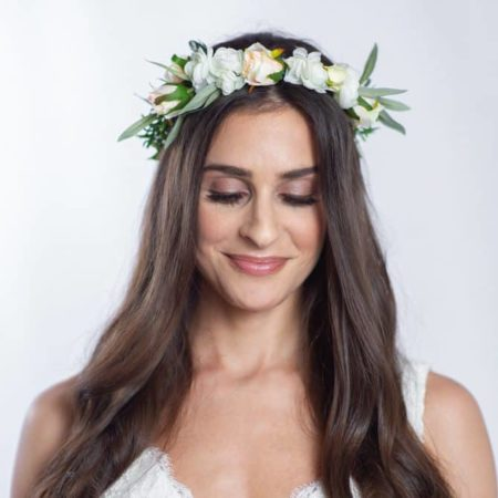 olivia wedding flower crown - something borrowed blooms
