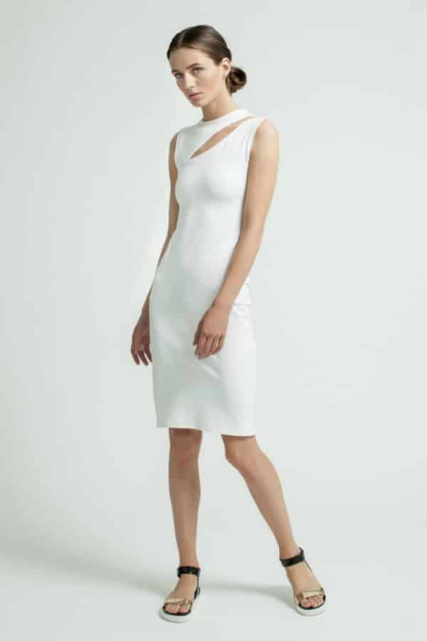 FITTED CUTOUT DRESS By Marcella Moda