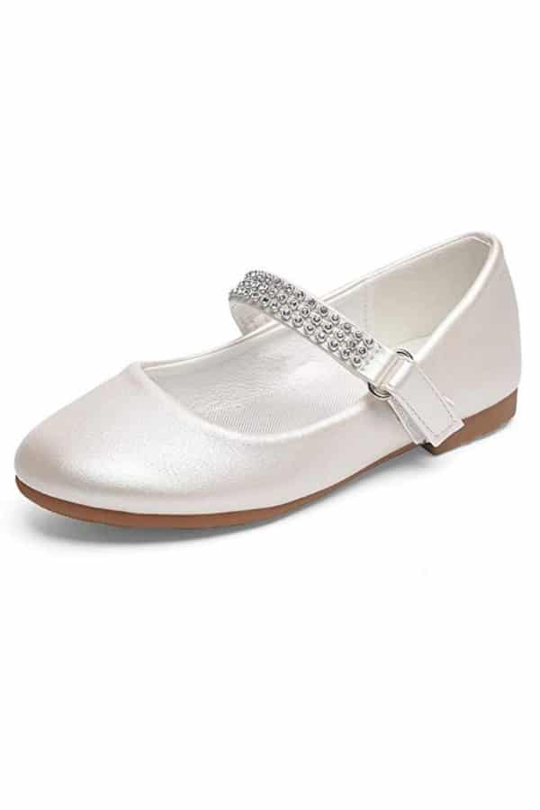 MARY JANE DRESS FLAT FLOWER GIRL SHOES By Stelle
