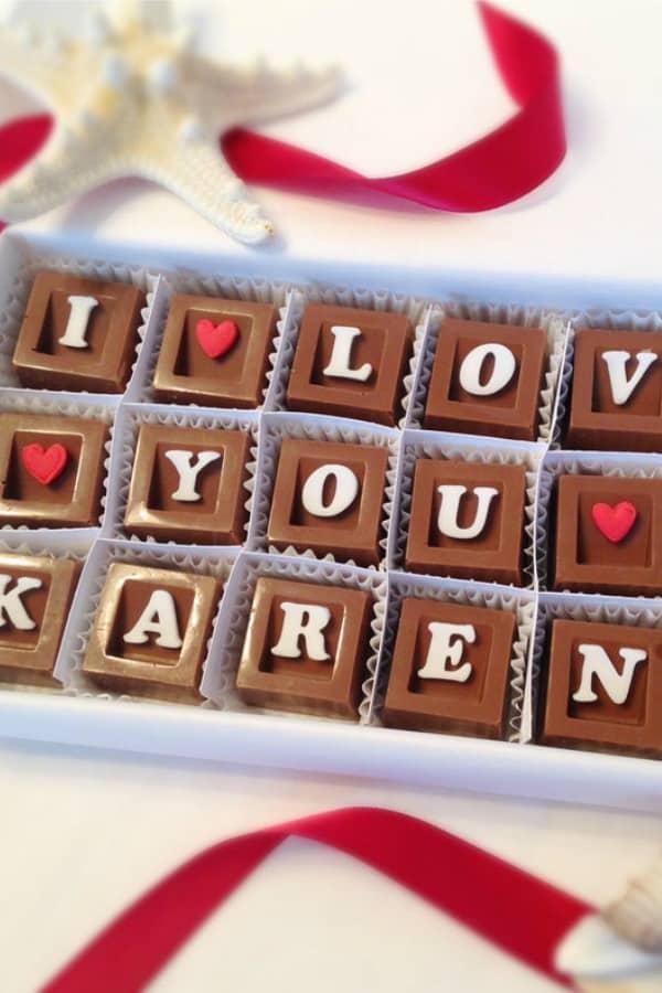 PERSONALIZED I LOVE YOU CHOCOLATES By DiamondChocolates