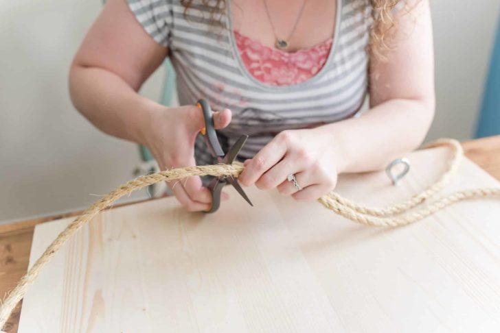 diy unity ceremony - cord of three strands board - alternative unity ceremony idea. tutorial by Heidi of ONBB | Photo by Rakoteet Photography