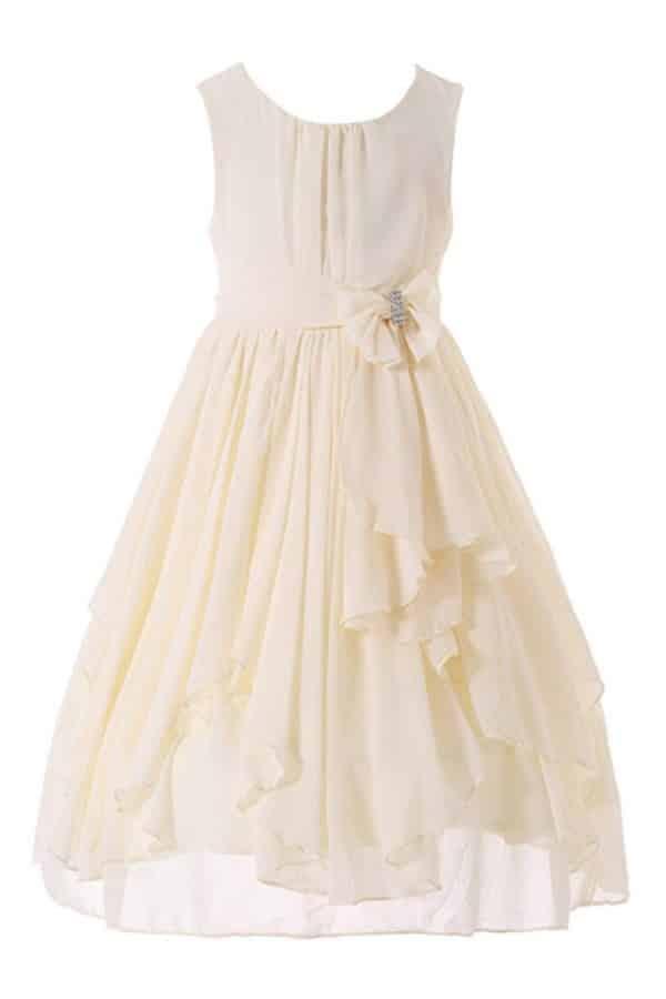 RUFFLED CHIFFON FLOWER GIRL DRESS By Bow Dream
