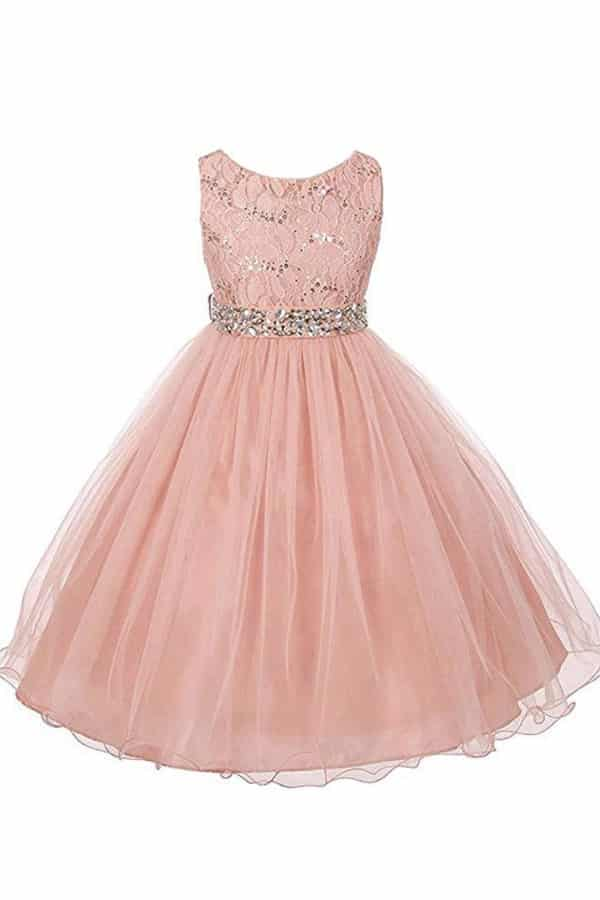SEQUINED AND TULLE FLOWER GIRL DRESS By Crunchy Cucumber