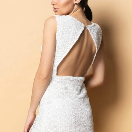 SHORT LACE OPEN BACK DRESS By Tavrovska
