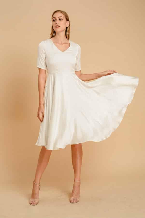 SIMPLE MINIMALIST WEDDING DRESS By NoireBrand