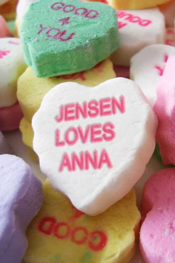 SWEETHEARTS CANDY PERSONALIZED PRINT By PictureItPersonal