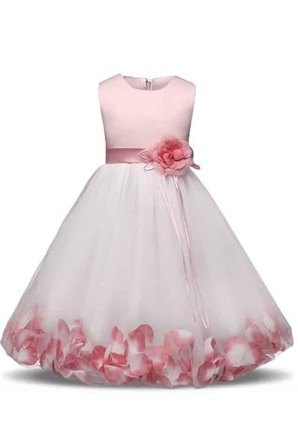 TUTU FLOWER PETALS BOW DRESS by NNJXD