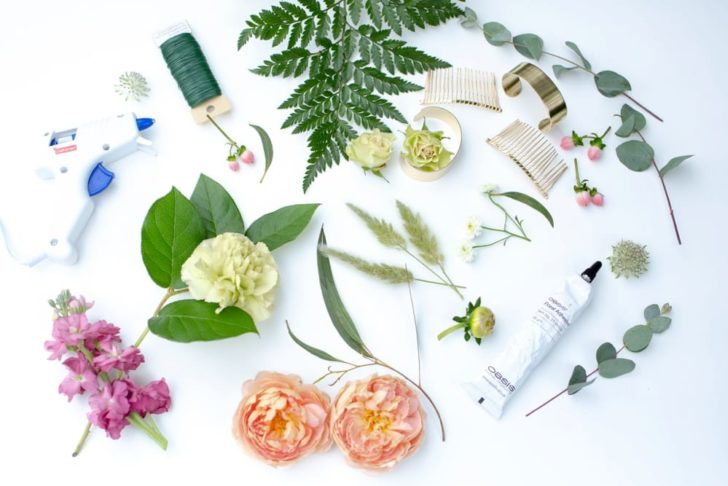 bloom culture flowers - diy wedding hair combs - floral hair comb_0001