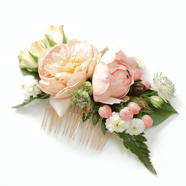 diy wedding floral comb