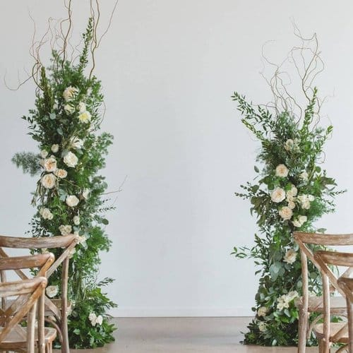 alternative ceremony altar decor ideas - create pillars for your aisle