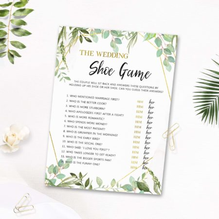 AoletaPrintableArt  - Wedding Shoe Printable Game