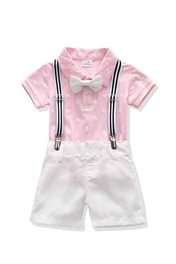 Bowtie And Suspenders Outfit By Mini Owl   Affordable Ring Bearer Outfits And Accessories from Amazon