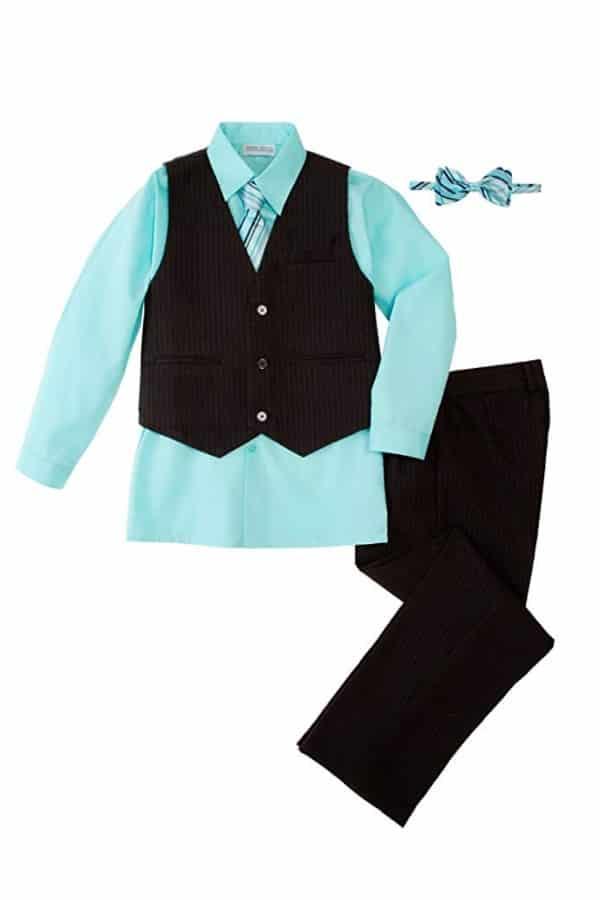 Boys 5 Piece Pinstripe Vest Set By Spring Notion