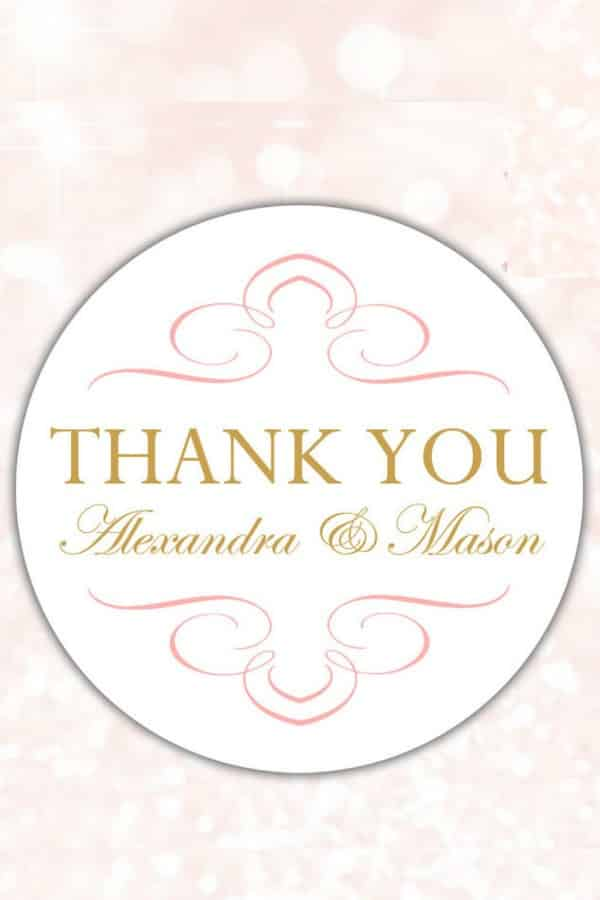 Chic Thank You Stickers By DasslingDaisiesCo
