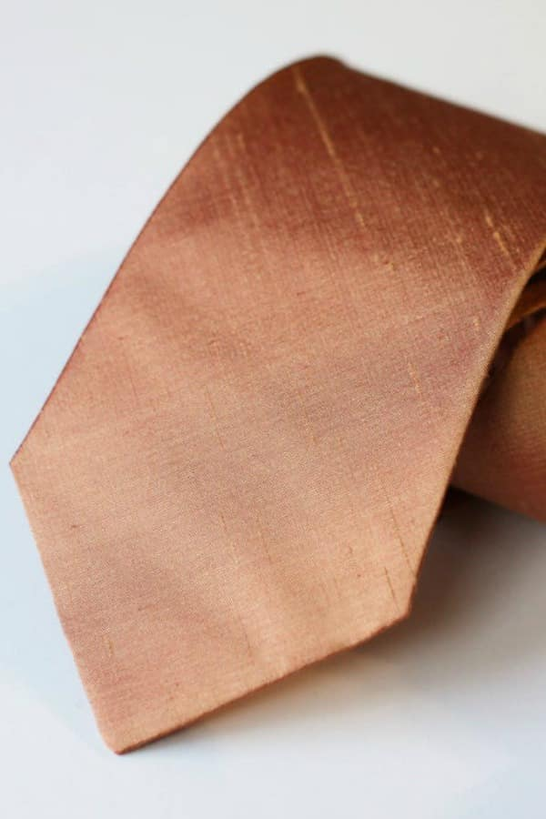 Copper Neck Tie By VIVIDClothingToronto | Seventh Anniversary Gifts - gift ideas for your 7th wedding anniversary